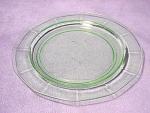 Depression Glass Green Vaseline Flanged Plate