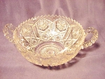 Imperial Glass Co. Depression Star And File Two Handled Bowl