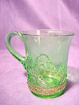 Eapg Colorado Or Lacy Jewel Pattern Green Souvenir Mug