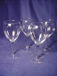 Set Of (4) Contemporary Wine Glasses Goblets Stemware