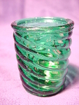 Forest Green Spiral Pattern Toothpick Holder