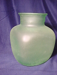 Large Green Frost Bottle Jar Vase Spain