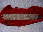 Ooak Brown & Turquoise Basket Weave Bead Bracelet