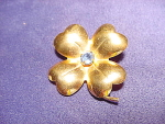 Coro Gold Wash Flower Brooch Pin