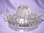 Huge Vintage Grey Glass Fruit Juicer Reamer