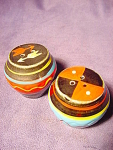 Vintage Wales Painted Pots Salt And Pepper Shakers