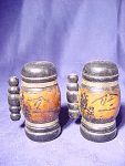 Wood Stein Salt And Pepper Shakers