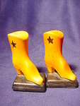 Vintage Cowboy Boot Salt And Pepper Shakers.