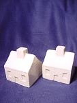 Vintage Salt Box Style House Salt And Pepper Shakers