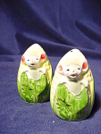 Vintage Pair Of Corn With Mice Salt And Pepper Shakers