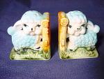 Vintage Blue Lambs Salt And Pepper Shakers