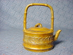 Antique Brass Chinese Teapot