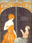 Aint You Ashamed Ukulele Arrangement Sheet Music 1923