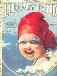 Lullaby Land Sheet Music 1929 Cute Baby Illustration