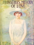 Hiawathas Melody Of Love 1920 Pretty Lady Illustration