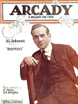 Arcady Words And Music By Al Jolson Sheet Music 1923
