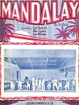 Mandalay Sheet Music 1924