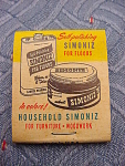 Simoniz Household Polish Matchbook