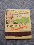 Mennen Brushless Shave Cream Matchbook