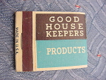 Good Housekeepers Products Matchbook