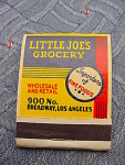 Los Angeles Little Joes Grocery Matchbook