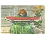 Vintage Afro American Negative Image