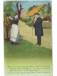 Vintage Humorous Postcard Pastor