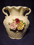 Large Flower Vase Wallpocket Vase W/ Roses