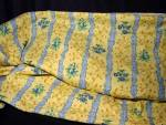 Vintage Bloomcraft Screen Print Yellow Blue Medium Weight Fabric