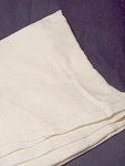 Vintage White On White Brocade Tablecloth