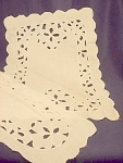 Vintage Cutwork Dresser Scarf Table Linen Set #1