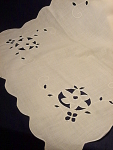 Vintage Cutwork Dresser Scarf Or Table Linen