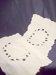Vintage Cutwork Dresser Scarf Table Linen Set #2
