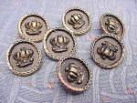 Set Of (7) Vintage Cast Metal Buttons