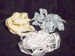 Lace Yardage Remnants, (3) Pieces