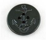 Black Bakelite Navy Coat Anchor Button