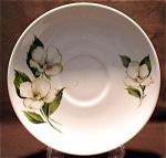 Homer Laughlin White Flower Saucer