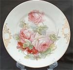 Z S & Co Bavaria Pink & Red Roses Floral Dinner Plate