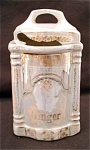 German Opalescent Ginger Kitchen Canister