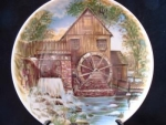 Grist Mill Porcelain China Collector Plate