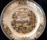 Farm Or Country Homestead Dinner Plate