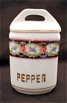 United Porcelain Union K Pepper Kitchen Canister