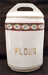 United Porcelain Union K Flour Kitchen Canister