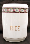 United Porcelain Union K Rice Kitchen Canister