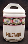 United Porcelain Union K Mustard Kitchen Canister