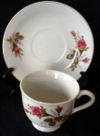 Made In Japan Floral Demitasse Cup And Saucer