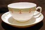 Nippon Gold Scroll Swag Cup And Saucer