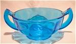 New Martinsville Ritz Blue Handled Sugar Bowl