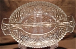 Anchor Hocking Thousand Line Divided Oval Relish Dish