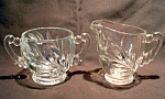 Indiana Glass Willow Wom Sugar And Creamer